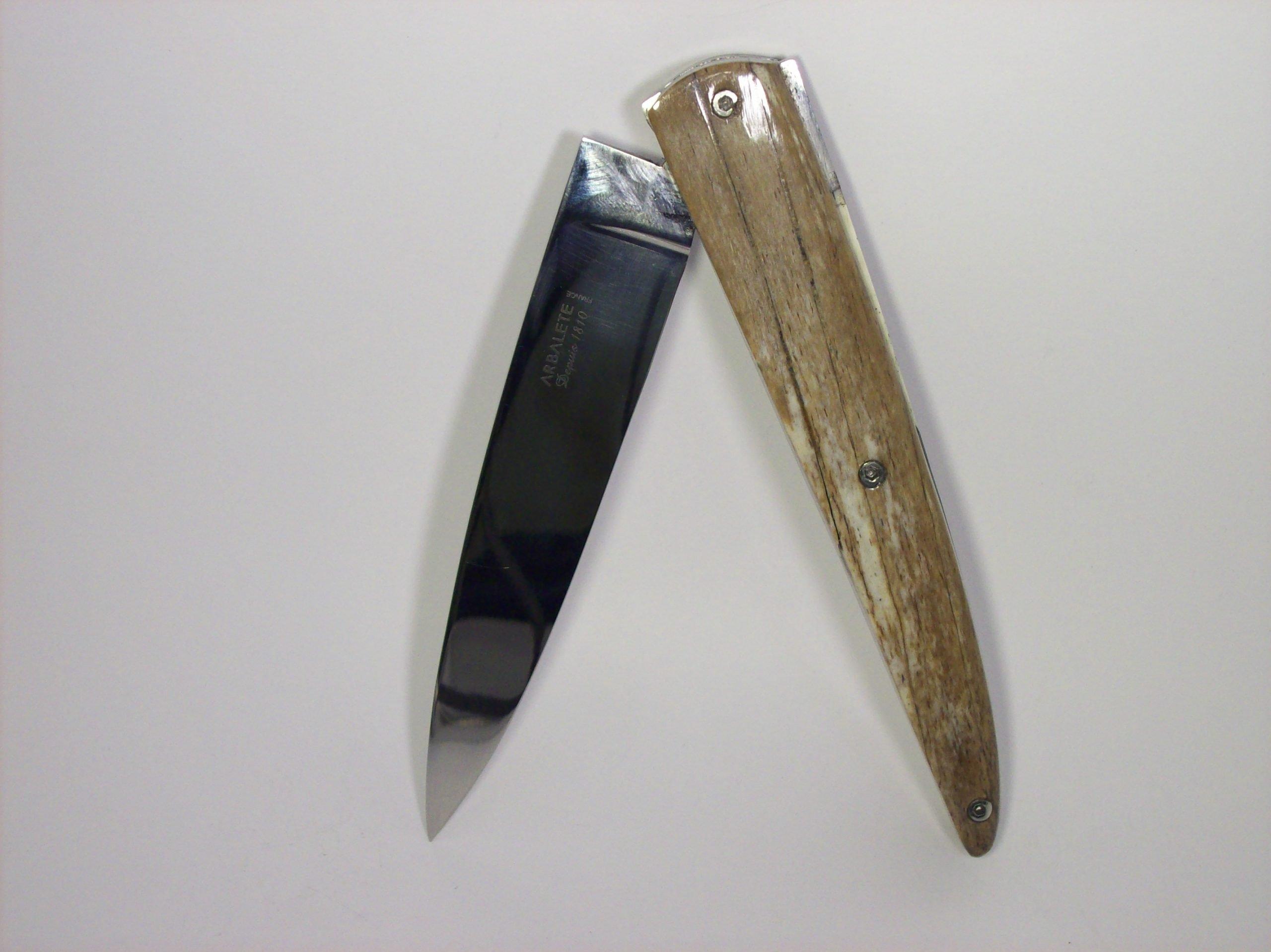 Navaja Arbalete G. David 12 cm Hueso Jirafa y Marfil