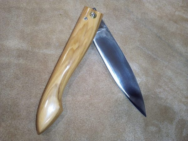Navaja Cognet 13 cm Madera de Olivo